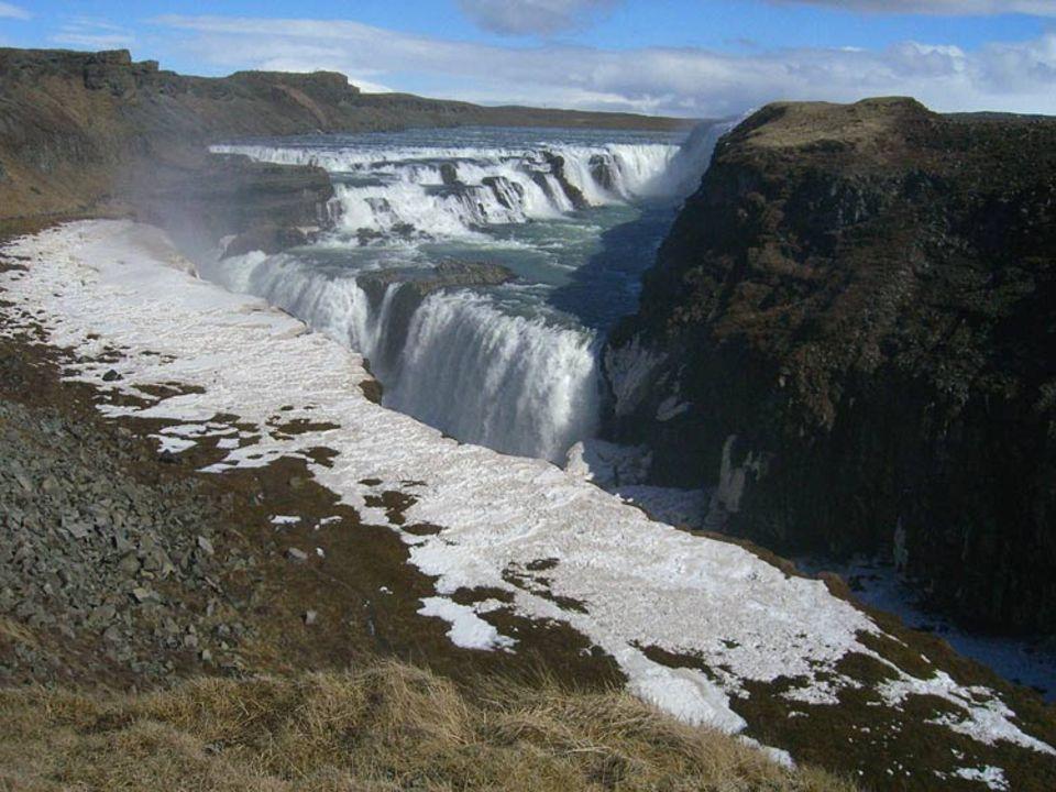 Islands meist fotografierter Wasserfall: der Gulfoss
