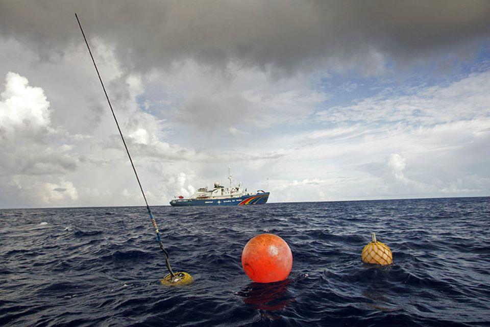 """Am 3. September startete die """"Esperanza"""" ihre Aktion in den Gewässern Mikronesiens"""
