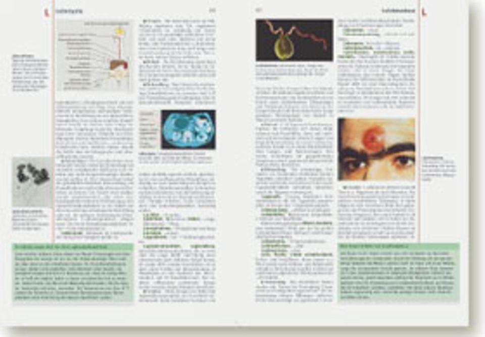 Von »Arteria« bis »Zytostatiktherapie«: Im A-Z-Teil der Medizin- und-Gesundheit- Bände wird das Wissen über Diagnose, Heilkunst und Arzneien erschlossen