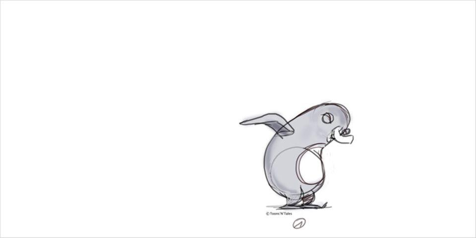 Film: Zum Herunterladen fürs Daumenkino: Das Anfangsbild vom hüpfenden Pinguin!