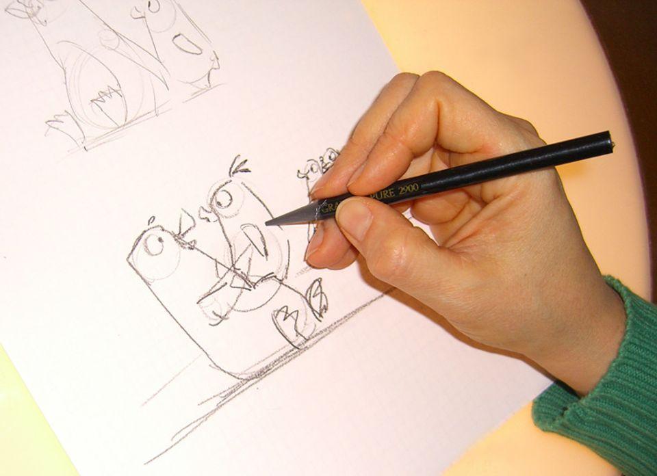 Filmproduktion: Trotz Computer hat der Bleistift noch lange nicht ausgedient!