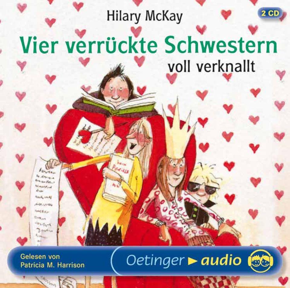 Hilary McKay: Vier verrückte Schwestern voll verknallt Gelesen von: Patricia M. Harrison Oetinger Audio, 138 Minuten, EUR 13,95 Ab 8 Jahre