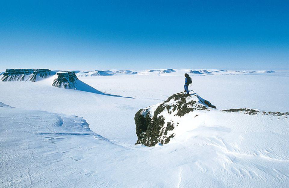 Am Kap Tirol konnten die Nachreisenden noch unbezwungene Berge besteigen