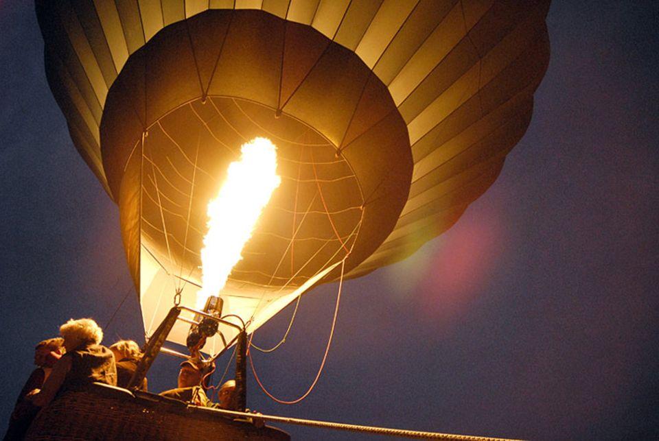 Abheben konnten die Teilnehmer bei einer Fahrt im Heißluftballon