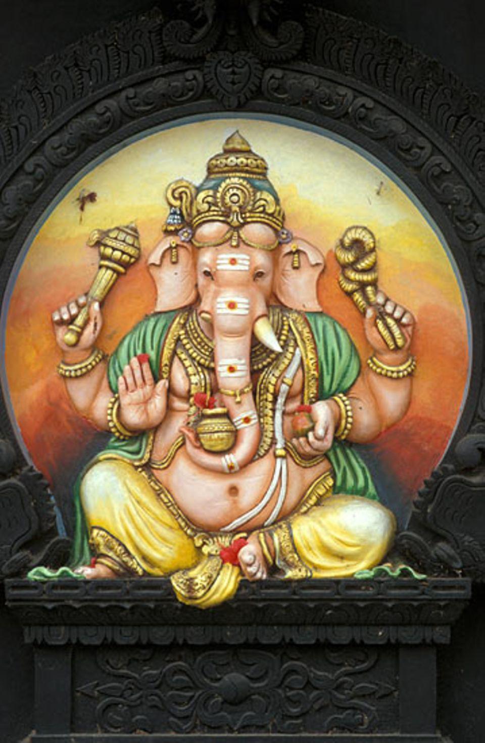 Hinduismus: Den Gott Ganesha erkannt man am Elefantenkopf