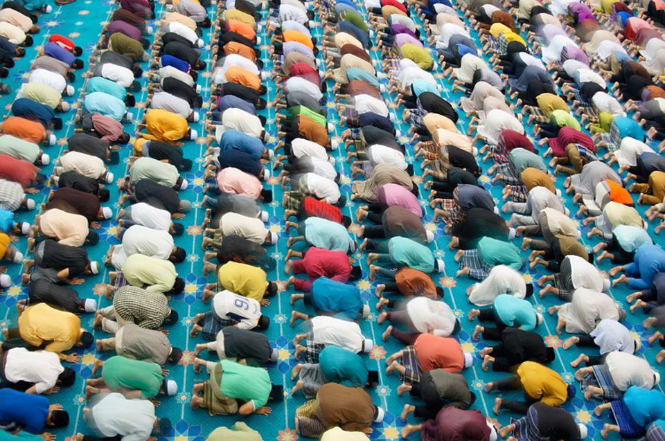 Weltreligionen: Gläubige Muslime beim Gebet