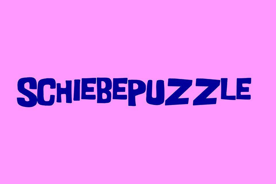 Spiele, Schiebepuzzle, Puzzle