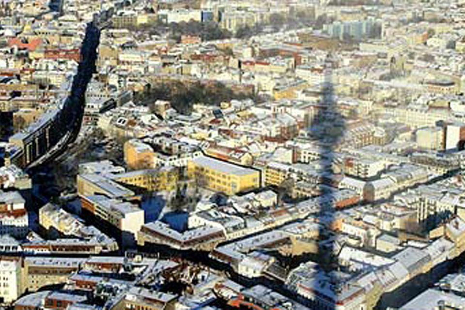 Stadt von oben auf der Vogelperspektive