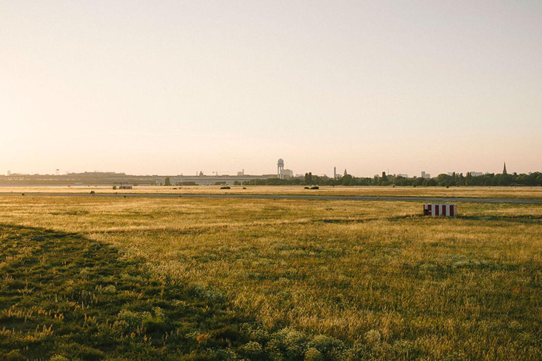 Der ehemalige Flughafen Tempelhof in Berlin