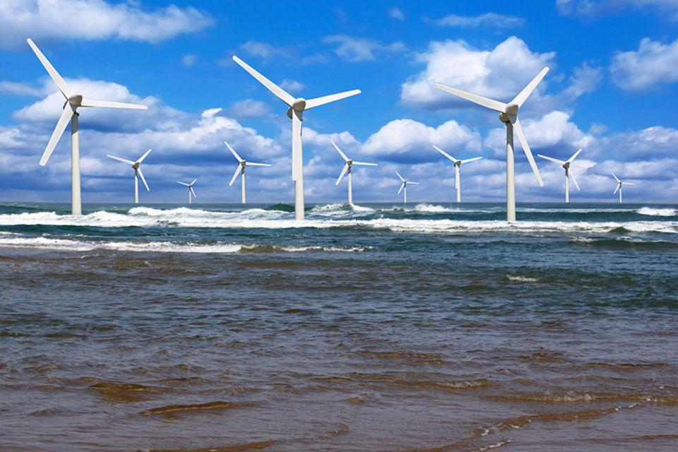 Globale Erwärmung: Energie durch den Einsatz von Windrädern zu produzieren, ist eine umweltfreundliche Methode der Energiegewinnung