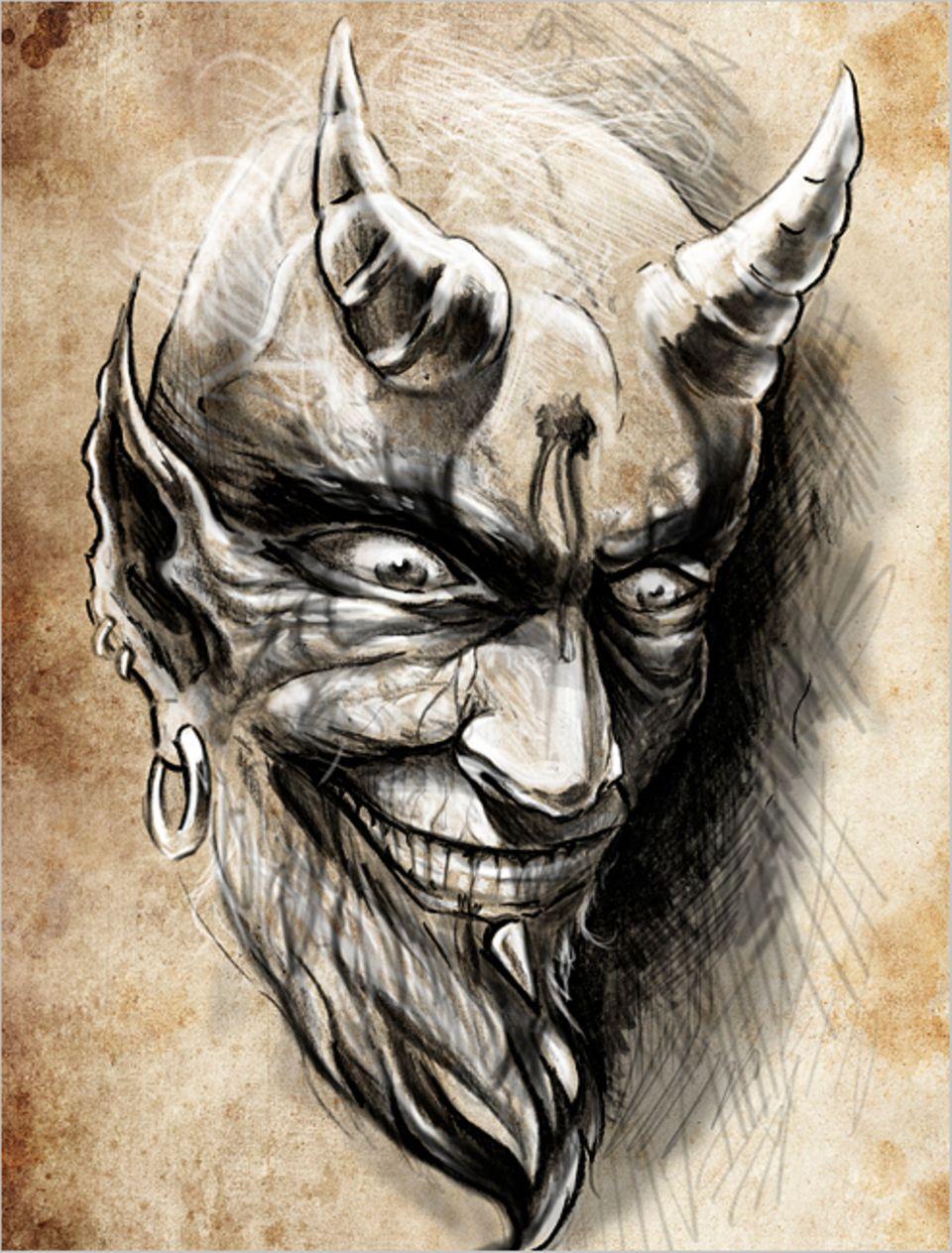 Redewendung: Den Teufel an die Wand malen