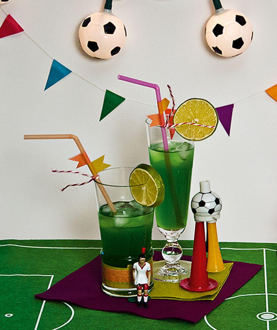 Rezept: Rasengrün und erfrischend: unsere Fußball-Drinks