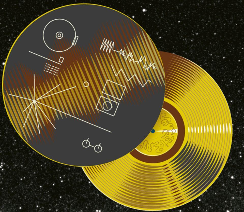 """Weltall: 1977 flogen """"Voyager 1 und 2"""" mit den """"Voyager Golden Records"""" ins Weltall"""