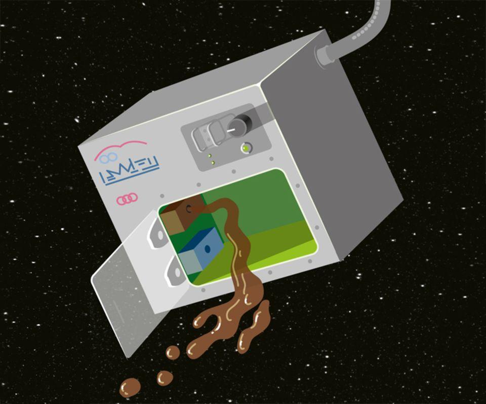 """Weltall: Samantha Cristoforetti brachte 2014 den Espressoautomaten""""ISSpresso"""" mit auf die ISS"""