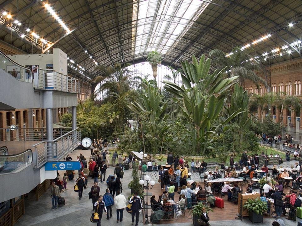 Rekorde: Der Bahnhof Atocha in Madrid beherbergt 7000 Pflanzen