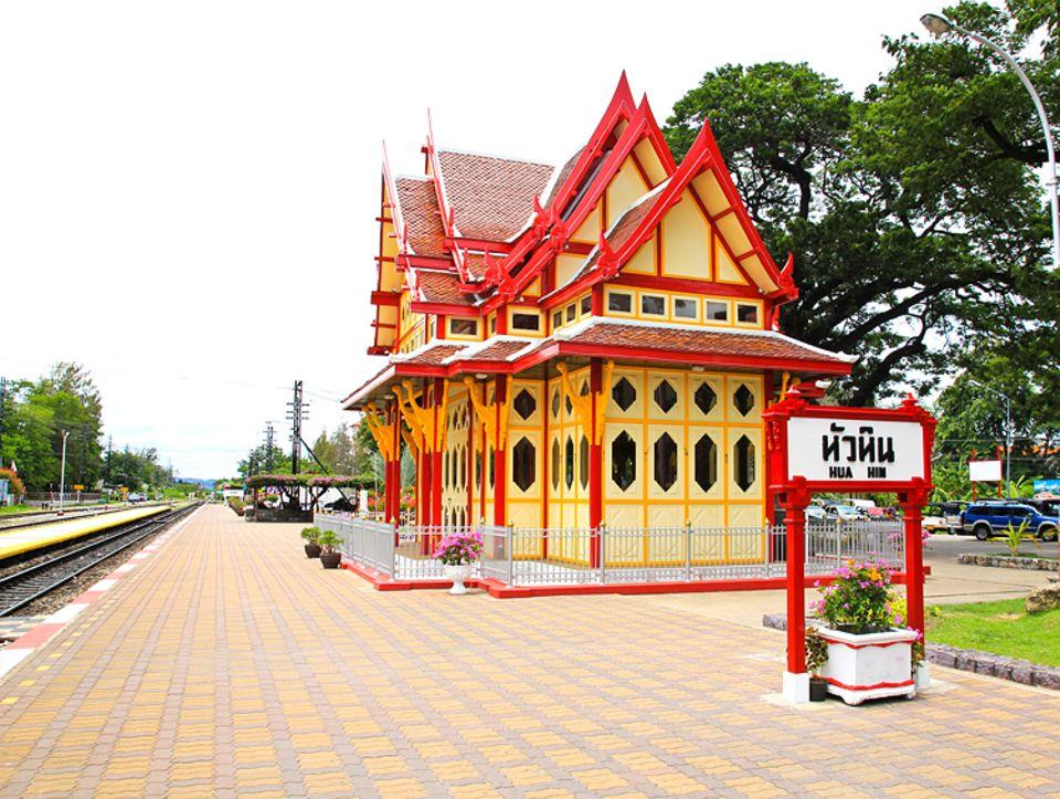 Rekorde: Der Bahnhof von Hua Hin gilt als der (weltweit) schönste Bahnhof
