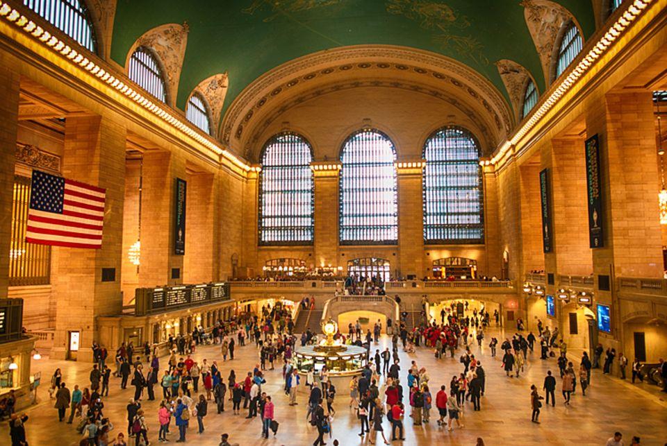 Rekorde: Das Grand Central Terminal in New York ist der größte Bahnhof weltweit