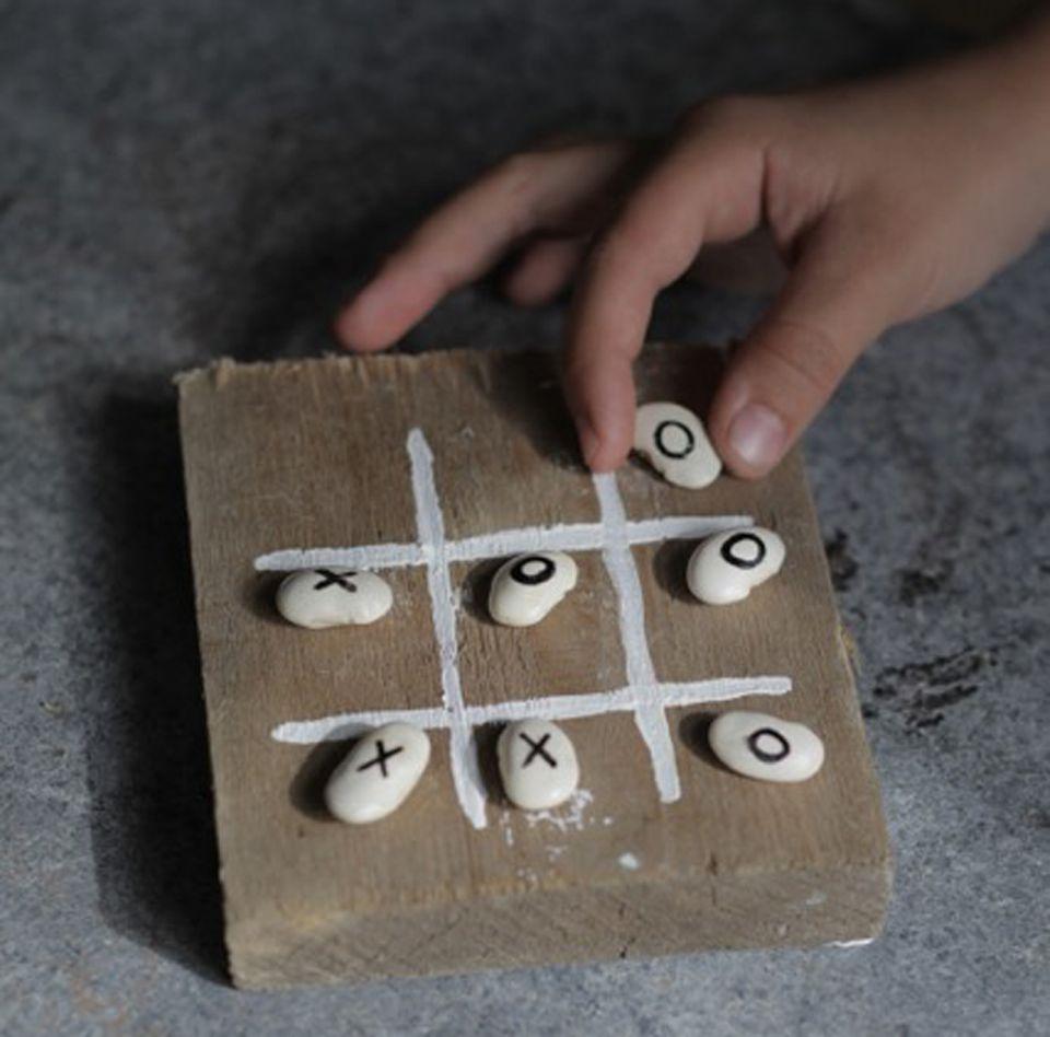 """Spielen: """"Drei gewinnt!"""" mit Bohnen spielen - so einfach geht's!"""