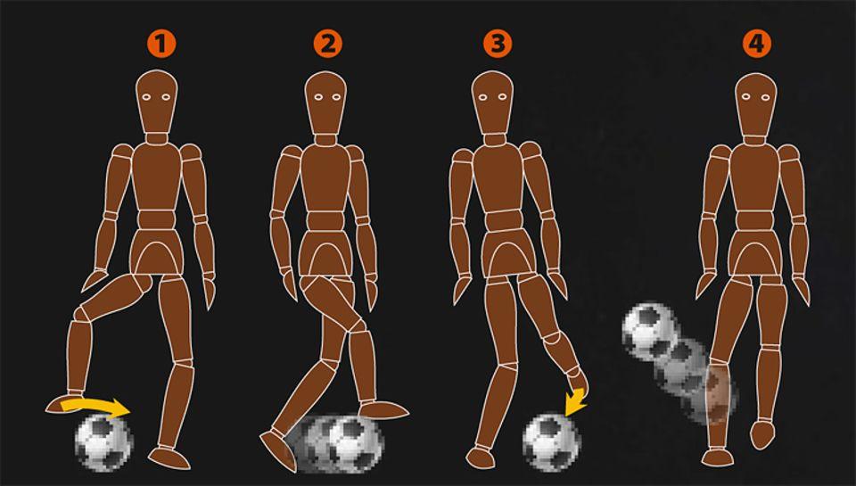 Fußball: Schritt für Schritt: So funktioniert der Ball-Pop