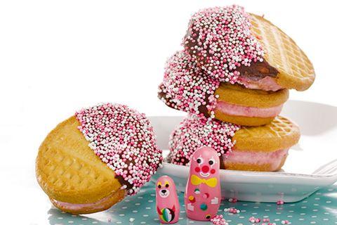 Eis: Erdbeer-Sandwich