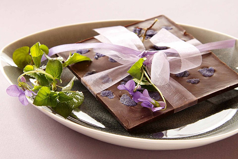 Rezept: Veilchenschokolade