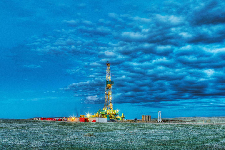 Erdgasförderung: Aus Bohrlöchern wie diesen wird in den USA unkonventionell Gas gewonnen