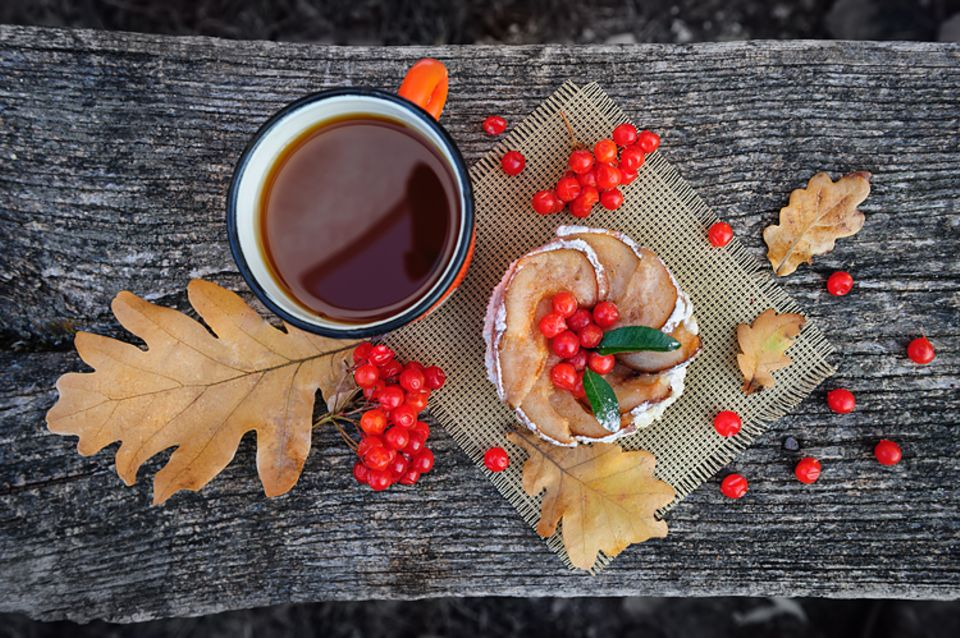 Rezept: Sehr gesund: Erkältungstee aus Ebereschen-Beeren