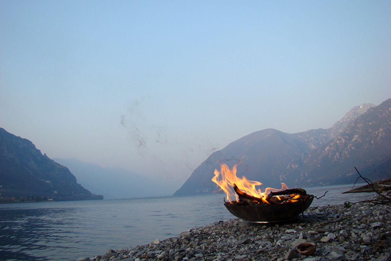 Camping Vantone Pineta am Lago d'Idro, Italien
