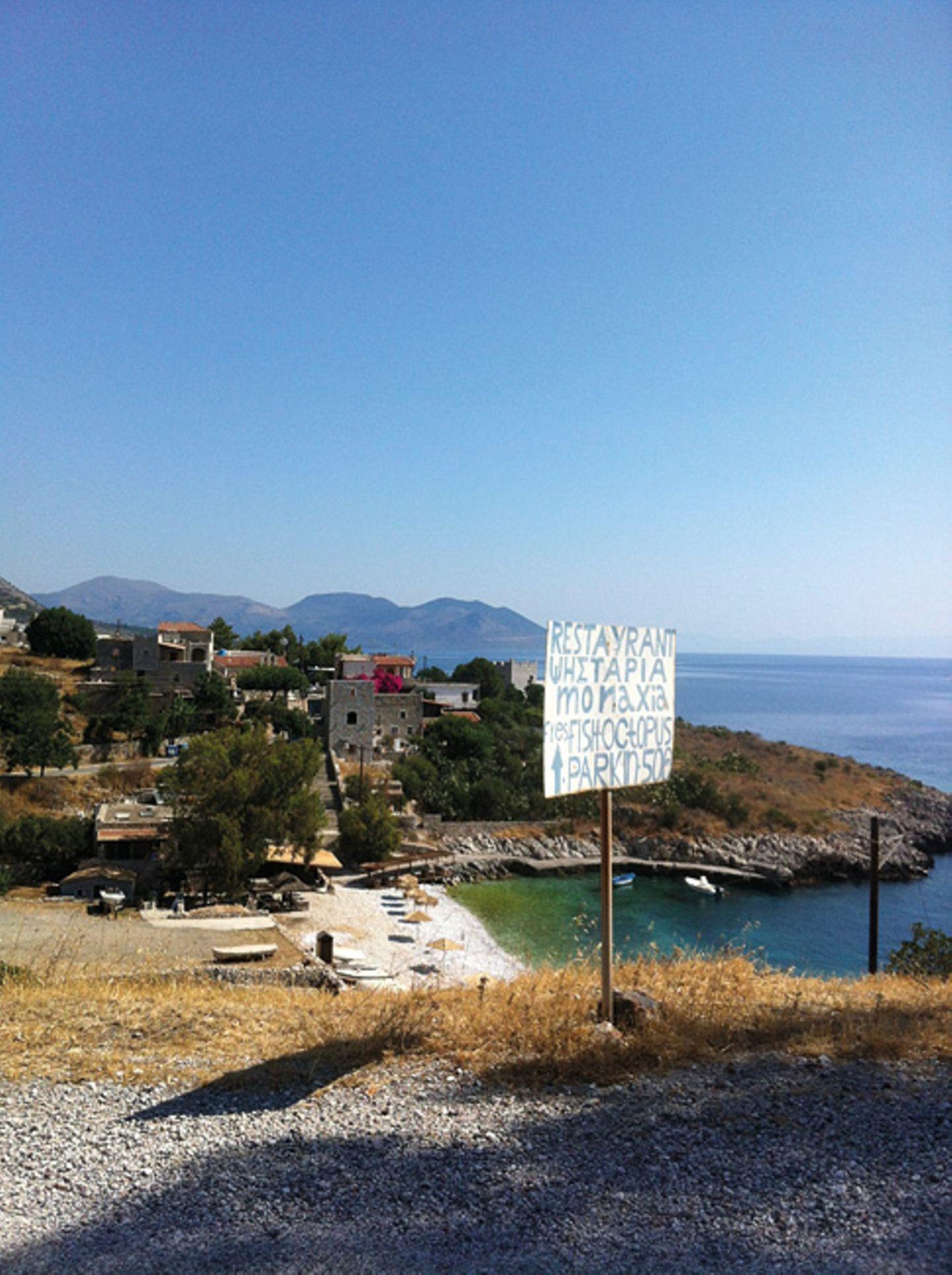 Freistehen in Kokkala, Griechenland