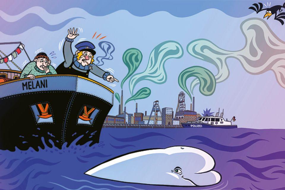 Schaltjahr: Moby Dick im Rhein
