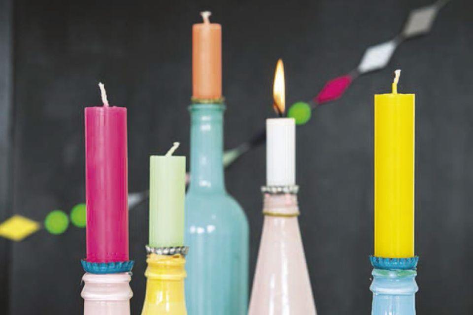 Basteln: Basteltipp: Kerzenhalter
