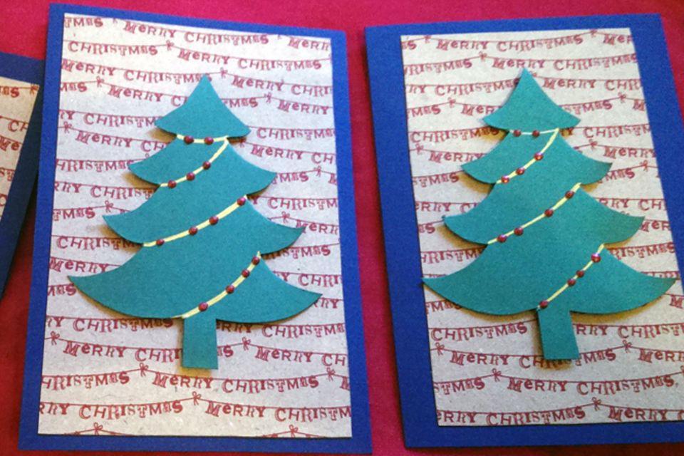 Basteln: Weihnachtskarte selbermachen
