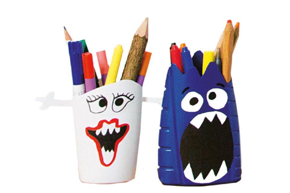 Upcycling: Stiftebecher aus Duschgelflaschen