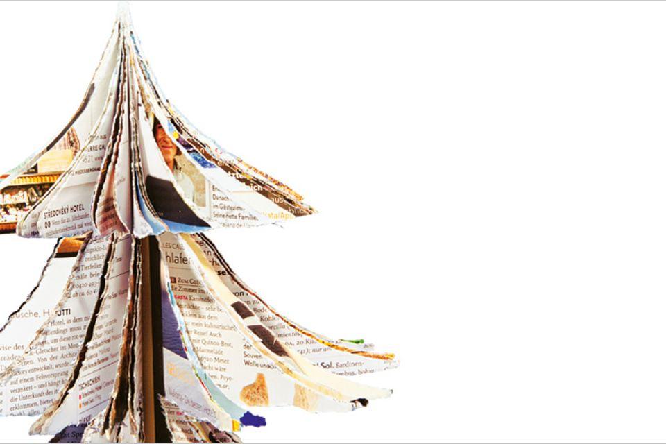 Basteln: Basteltipp: Dekotanne aus Altpapier