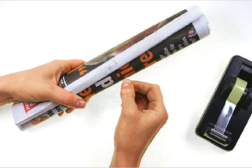 Basteln: Hocker aus Altpapier