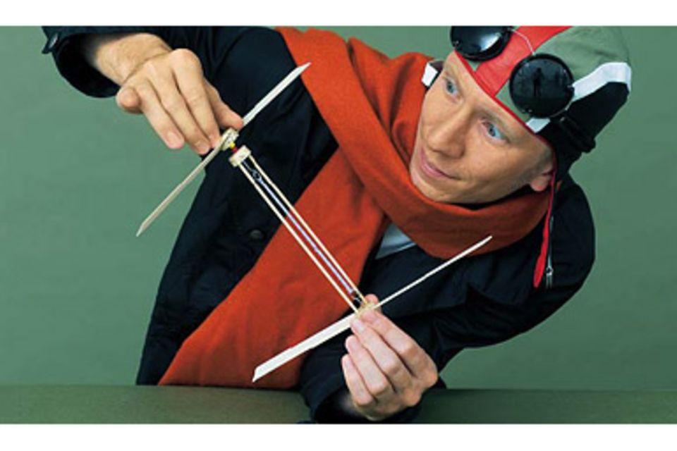 Basteln: Anleitung: Hubschrauber selbst gebaut