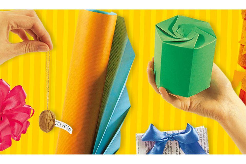 Bastelvorlage: Geschenke einpacken