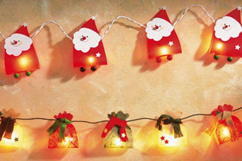 Bastelanleitungen: Weihnachts-Lichterketten