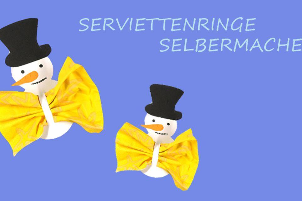 Basteltipp: Schneemann-Serviettenring