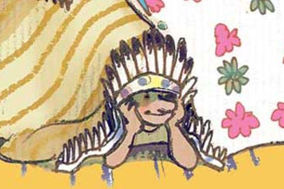 Basteln: Indianer-Tipi