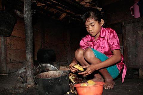 Kinderarbeit ist trauriger Alltag