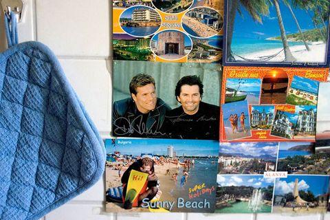 Postkarten: Viele rechteckige Urlaubsgrüße