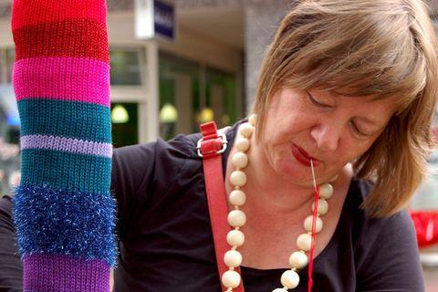 """Stricken: urban knitting: """"Das funktioniert mit jedem Garn!"""""""