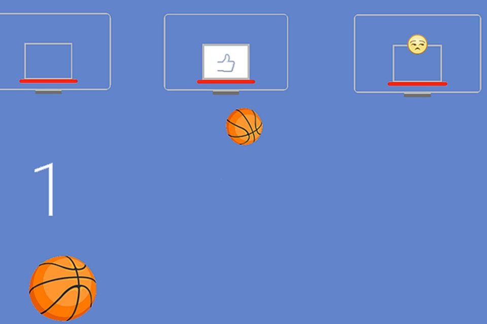 Facebook: Messenger: Verstecktes Basketballspiel