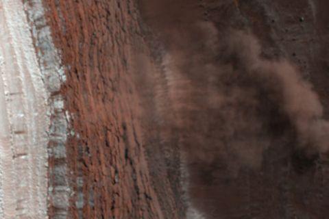 Eislawine auf dem Mars