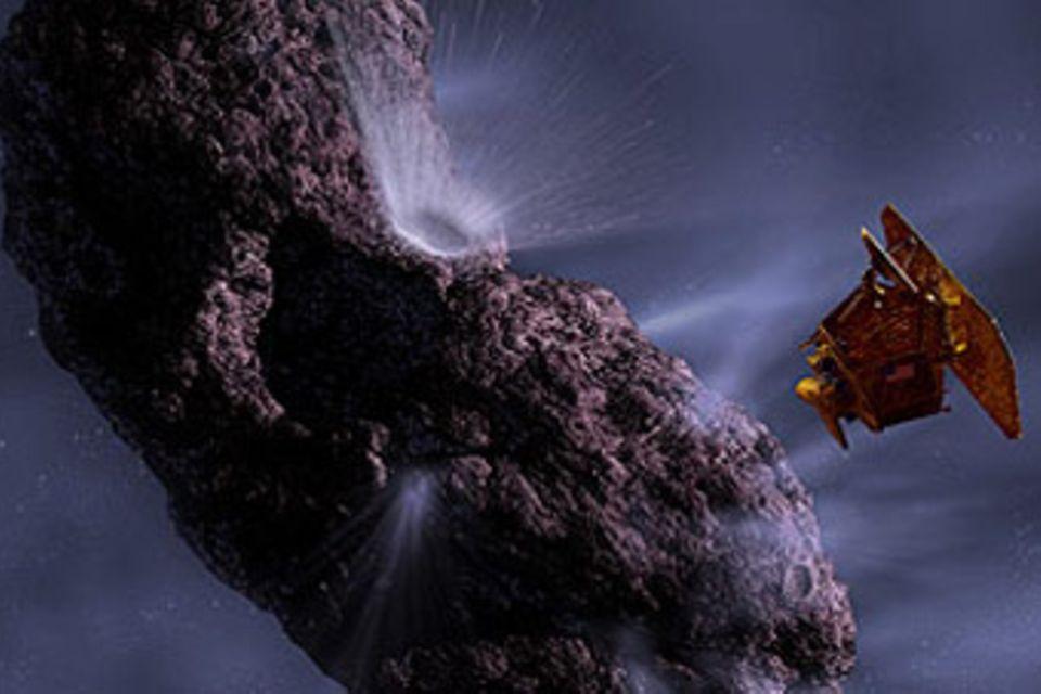 Kometen-Crash im Weltall