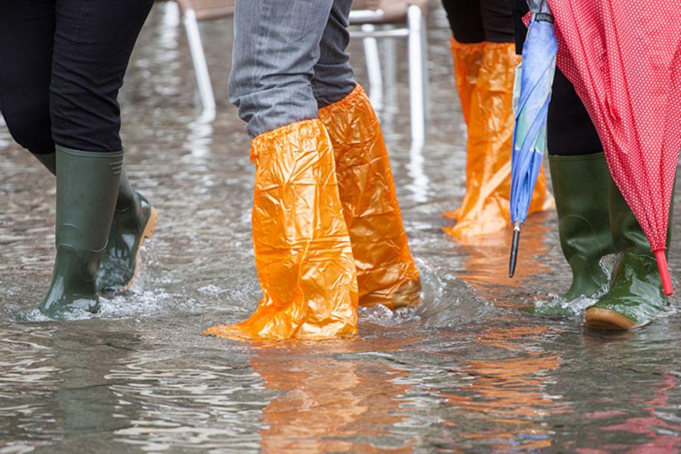 Hochwasser haben