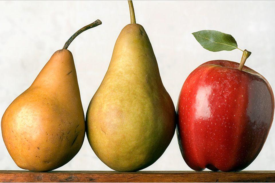 Redewendung: Äpfel mit Birnen vergleichen