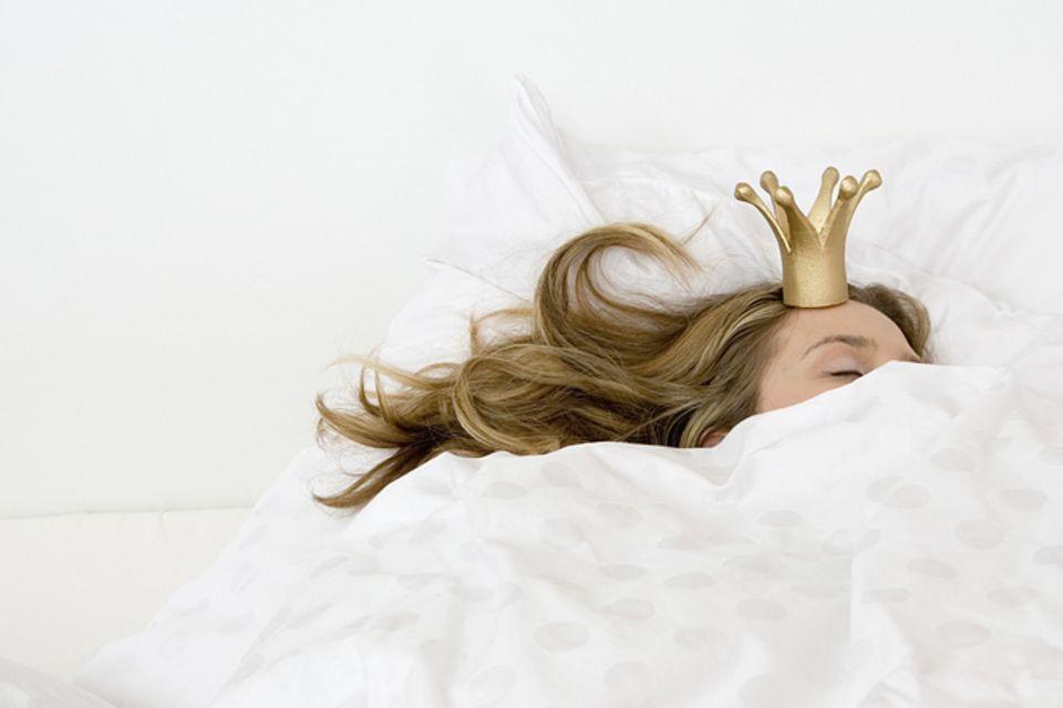 Redewendung: Eine Prinzessin auf der Erbse sein