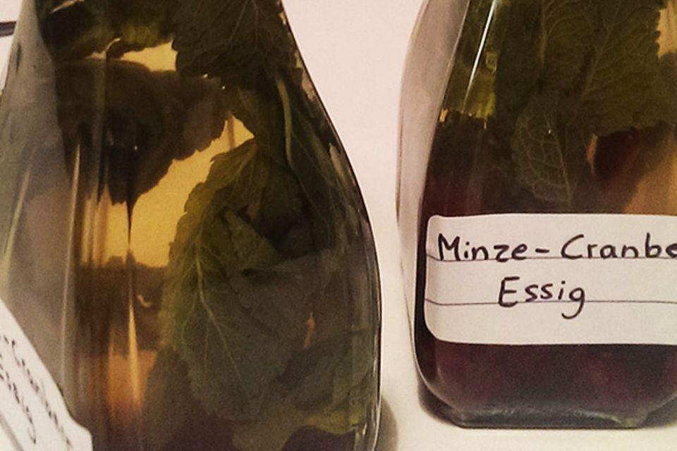 Rezept: Minze-Cranberry Essig